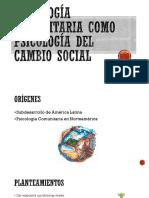 Psicología Comunitaria Como Psicología Del Cambio Social