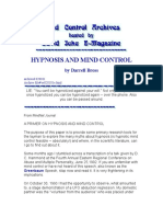 Hypnosis Darrell Bross - Hypnosis and mind control.doc