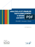 Analysis of Ict-Enabled Youth Employment in Ghana Annex
