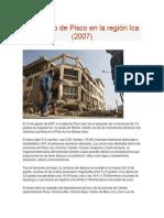 TRABAJO Terremoto de Pisco en La Región Ica