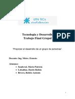 Trabajo Final Tecnología y Desarrollo Rivero-Sandoval-Lobadino 2017