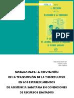 Normas Prevención Transmisión TB
