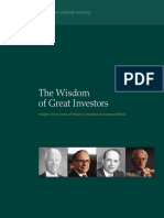 Wisdom of Great Investors