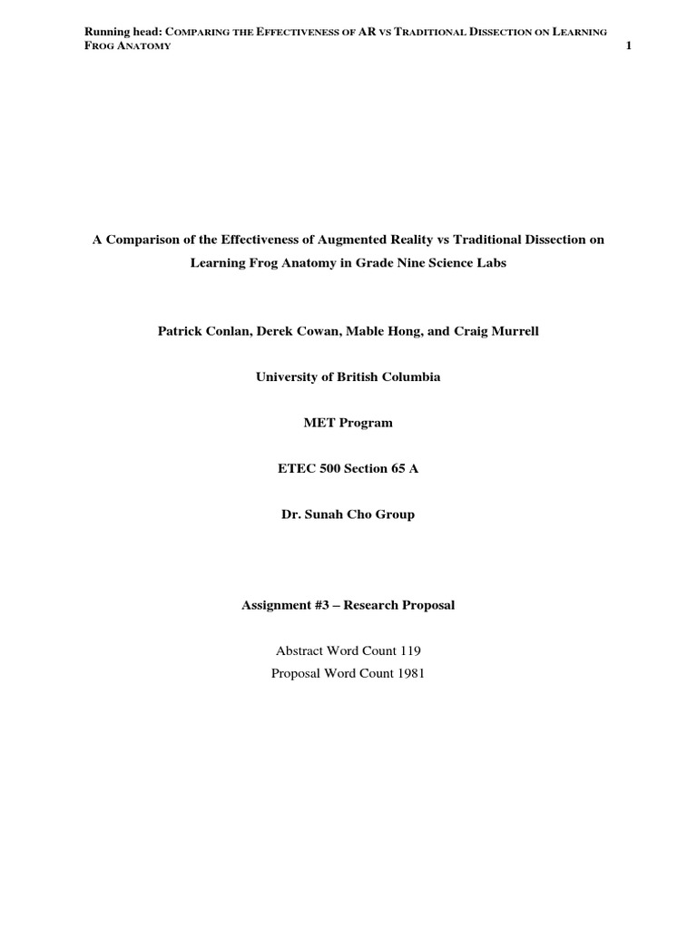 final assignment - research proposal 1 | Augmented Reality ...