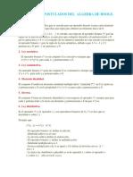 Teoremas y Postulados Del Algebra de Boole