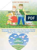 Marriage Family and Society