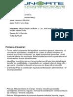 De. Fomento Industrial.