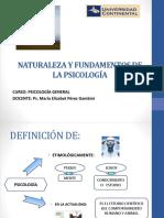 Clase 1 Naturaleza y Fundamentos de La Psicología