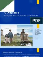 Adjetivo_Funções Morfológicas e Sintáticas