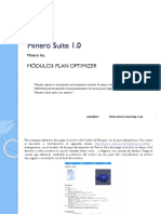 Minero Suite 1.0 - 3er Modulo Plan Optimizer