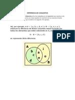 Conjunto e intersecciones , pensamiento lógico y matemático