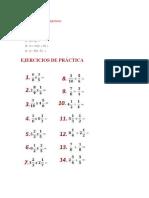 Ejercicios Multiplicacion de Binomios