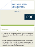 Chapter 3 Language and Definitions