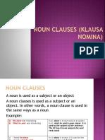 Noun Clauses (Klausa Nomina)