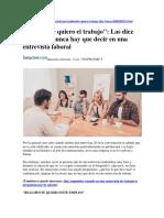 Entrevista Laboral -Consejos-
