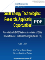 nrel solar energy types   applications