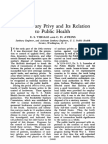 The Sanitary Privy and Its Relation to Public Health