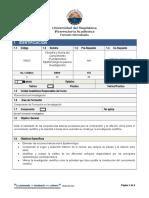 Microdiseño Filosofía y Teoría Del Conocimiento 2015.II