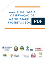DIRETRIZES PARA A OBSERVAÇÃO DE MANIFESTAÇÕES E PROTESTOS SOCIAIS