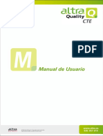 Altra Quality Manual Del Usuario