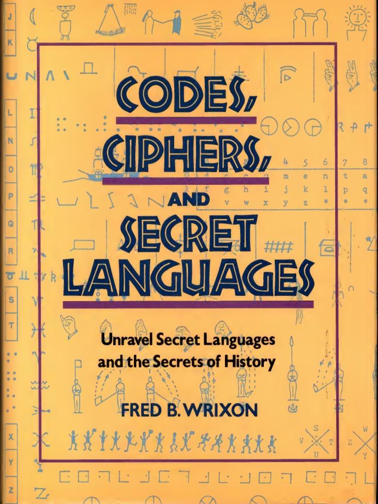 Codes Ciphers Secret Languages Cipher