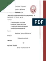 informe banco de transforamdores mecanica fim