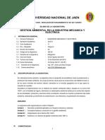 Silabo 2017-i - Gestion Ambiental en La Industria Mecanica y Electrica