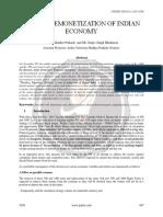 Digital Remonetization of Indian Economy Ijariie5226
