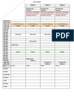 Daily Schedule 3