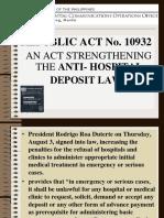 Anti-Hospital Deposit Law