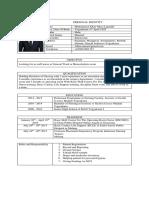 CV Muhammad Afkar Hd