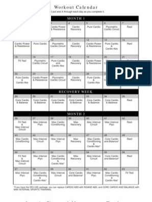 Admirable Insanity Calendar Fittest Aerobic Exercise Body Shape Download Free Architecture Designs Scobabritishbridgeorg