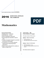 2016 2U Mathematics - Baulkham Hills Trial With Solutions
