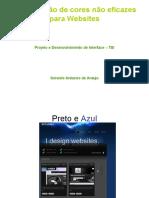 Combinação de cores não eficazes para Websites