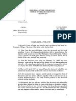 Complaint Affidavit Murder Revised