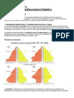 La Estructura Demográfica Actual en España y Sus Perspectivas