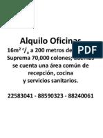 Alquiler de Oficinas San José CR