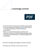 Foriegn Exchange Control