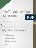 Traffic Volume Data Collection