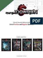 Shadowrun 5 Qualities