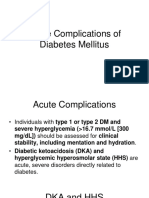 Acute and Chronic DM Complications
