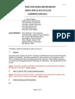 04 25 17 - April 25, 2017 Council Minutes