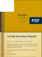 Essays for Admissions and Scholarship Applications