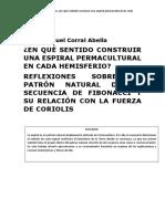 Patrón Natural de la Espiral. Manuel Corral