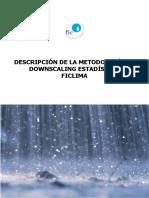 Metodologia Downscaling Estadistica FICLIMA