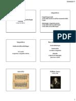 Linguistica Generale e Glottologia 1