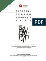 Raportul Pentru Bucuresti 2016