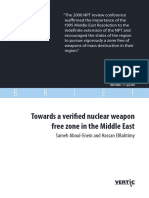 Towards a Verifed Nuclear Weapon Free Zone in the Middle East