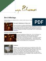 Devi Offerings