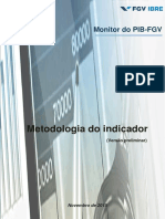 Metodologia Preliminar Monitor Do PIB-FGV - Novembro de 2015